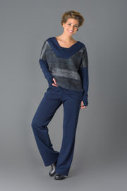 ELSEWHERE broek night blue maat M - STYLE 3121