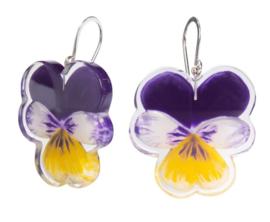 ZSISKA earring purple violet hooks PRIMA VERA