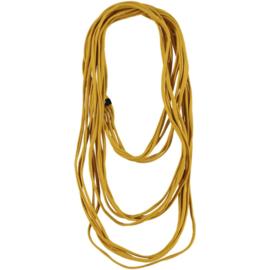 BORIS t-shirt sjaal - ketting oker geel