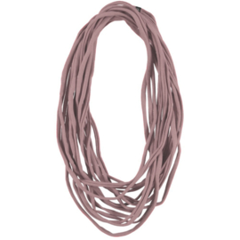 BORIS t-shirt scarf necklace old pink