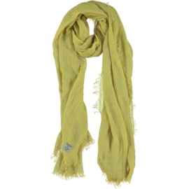 D&A sjaal lime groen crepe viscose, 100x190cm