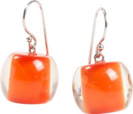 ZSISKA earings orange COLOURFUL BEADS.