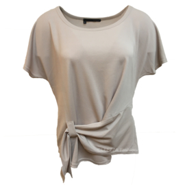 ELSEWHERE top jersey met overslag sand cupro STYLE 3231
