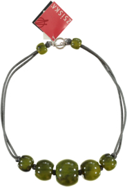 ZSISKA necklace green - olive choker BALL'S