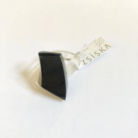 ZSISKA ring  black abstract - EMOCION