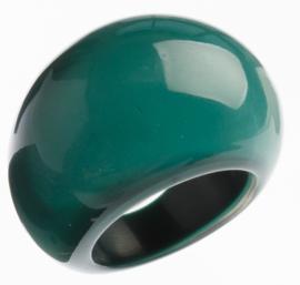 ZSISKA ring groen donker  BASIC
