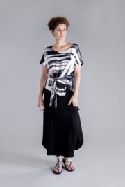 ELSEWHERE rok jersey zwart STYLE 3275