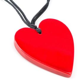ZSISKA ketting rood hart 5,7 cm HEARTS