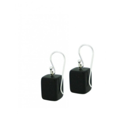 ZSISKA earrings black matt finish CUBES