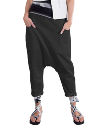 ELSEWHERE dothi broek zwart met ingeweven ruit