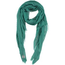 D&A sjaal donker mint groen crepe viscose,  100x190cm