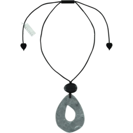 ZSISKA necklace grey marbled, ORGANIC