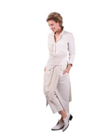 ELSEWHERE broek NINA - naturel linnen en linnen jersey