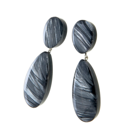 ZSISKA earrings gray silver. EDEN.