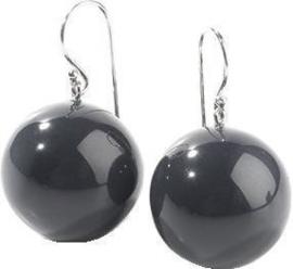 ZSISKA earrings black BOLAS