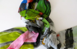 SILK ROUTE sjaal Jazzband print, 100% super fine wool/silk 100 x 190cm