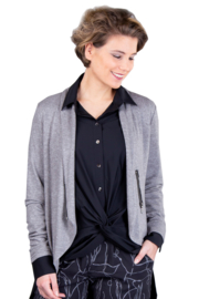 ELSEWHERE blouse techno travel jersey zwart STYLE 3347
