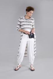 ELSEWHERE long top striped jersey STYLE 3228