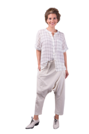 ELSEWHERE pants dhoti style EVY - natural, Linen
