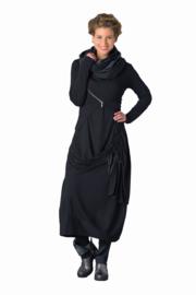 ELSEWHERE rok - zwart viscose jersey