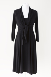 LEEZZA bolero vestje in zwart viscose/lycra jersey, Style  Irving