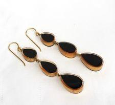 ZSISKA oorbellen goud zwart, 3 delig.  VOGUE