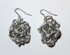 AnZZ earrings BULGY aluminium silver gey
