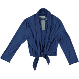LEEZZA short cardigan BLUE jersey viscose/lycra Style Irving