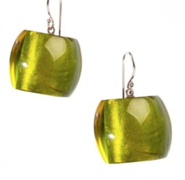 ZSISKA earrings green olive. BELLISSIMA