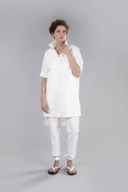 ELSEWHERE blouse ZWART tone-in-tone  ruit   STYLE 3211