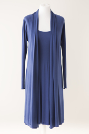 LEEZZA cardigan royal blue jersey. Style KIM