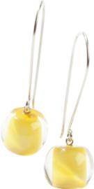 ZSISKA oorbellen geel BALL'S