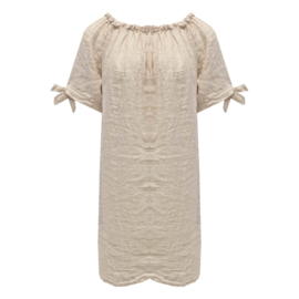 LEEZZA tuniek jurk offshoulder - linnen