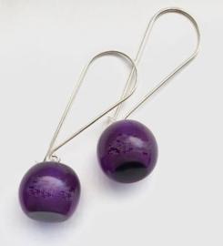 ZSISKA earrings purple, BALL'S