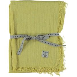 D&A sjaal imegroen crepe, 100x190cm