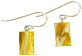 ZSISKA earrings yellow mustard marble CUBES