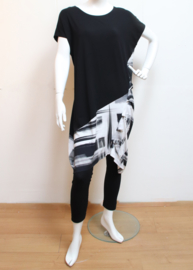 ELSEWHERE tunic black & white STYLE 3271A