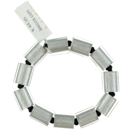 ZSISKA armband zilver elastiek.  PRECIOUS.
