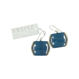 ZSISKA earrings turquoise blue petrol, BELLISSIMA
