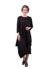 ELSEWHERE long cardigan v neck JANET black - Jersey