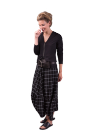 ELSEWHERE dhoti style pants NICKY - black white, Check