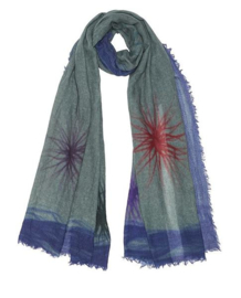 Jo Edwards Star winter scarf print on 100% merino wol