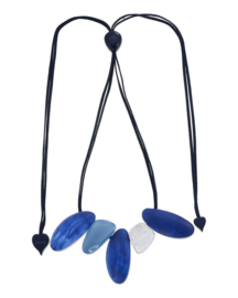 ZSISKA necklace  blue, adjustable. ORIGIN