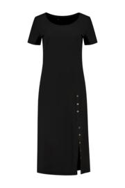 ELSEWHERE jurk JESSIE- zwart travel / tech jersey