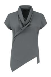 ELSEWHERE top SAM- grijs travel / tech jersey