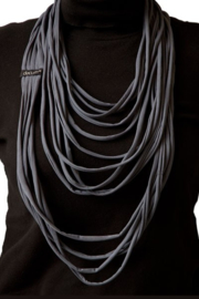 BORIS T-shirt scarf - necklace charcoal grey