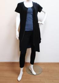 ELSEWHERE vest/jurk met rits zwart  STYLE 3274