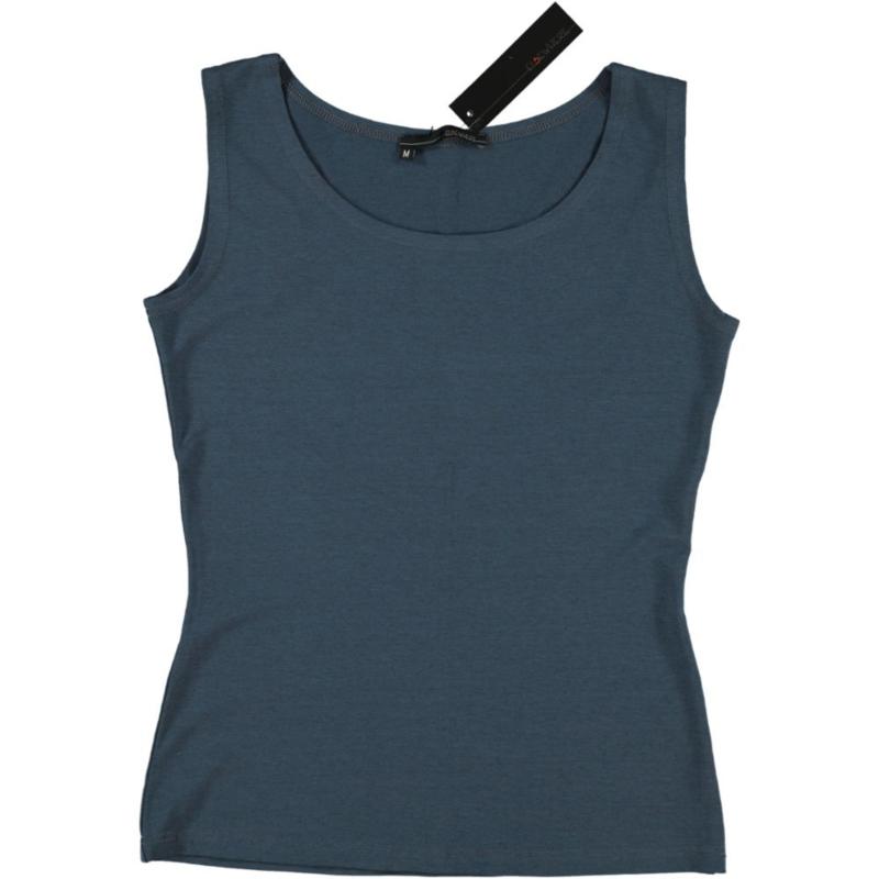 ELSEWHERE top mouwloos jersey denim blue 601B