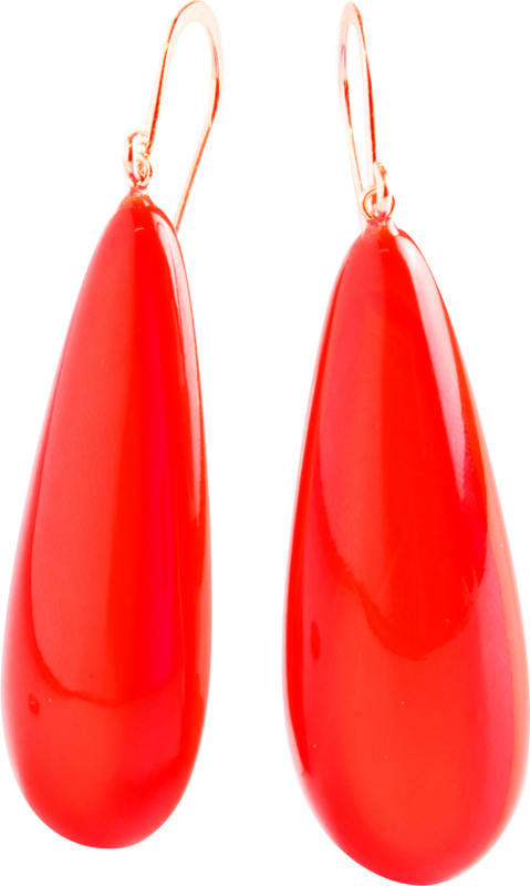 ZSISKA oorbellen rood COLOURFUL STATEMENT