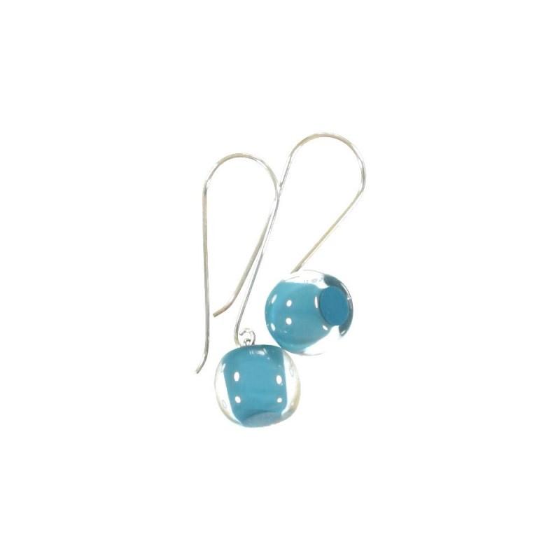 ZSISKA oorbellen turquoise. Balls